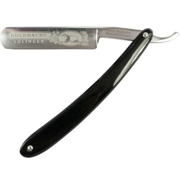 Golddachs Rasiermesser, schwarz