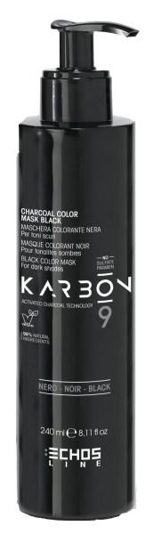 Echosline Karbon 9 Black Color Mask 240ml