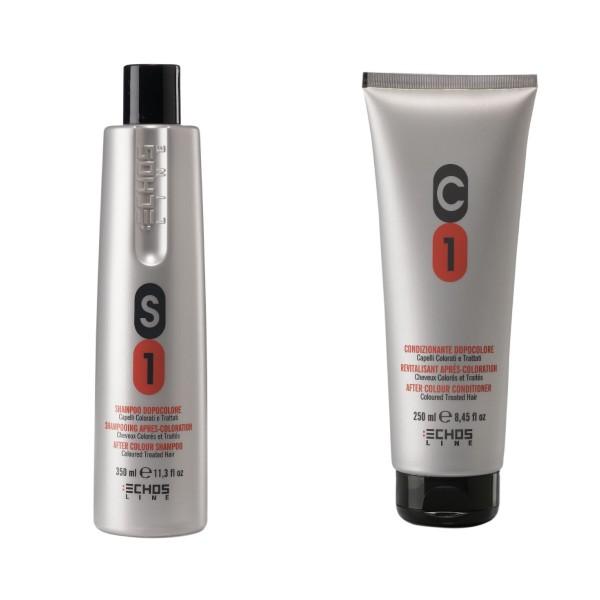 Echosline 2-teiliges Pflegeset für coloriertes Haar 350 ml & 250 ml