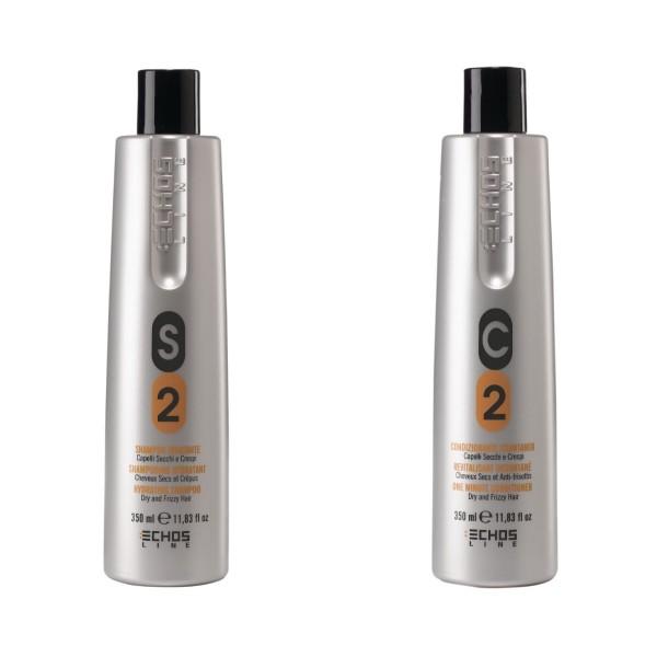 Echosline 2-teiliges Pflegeset für trockenes Haar jeweils 350 ml